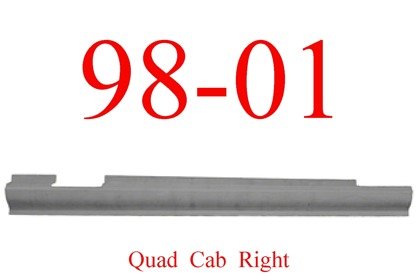 98-01 Dodge Right Quad Cab Slip-On Rocker