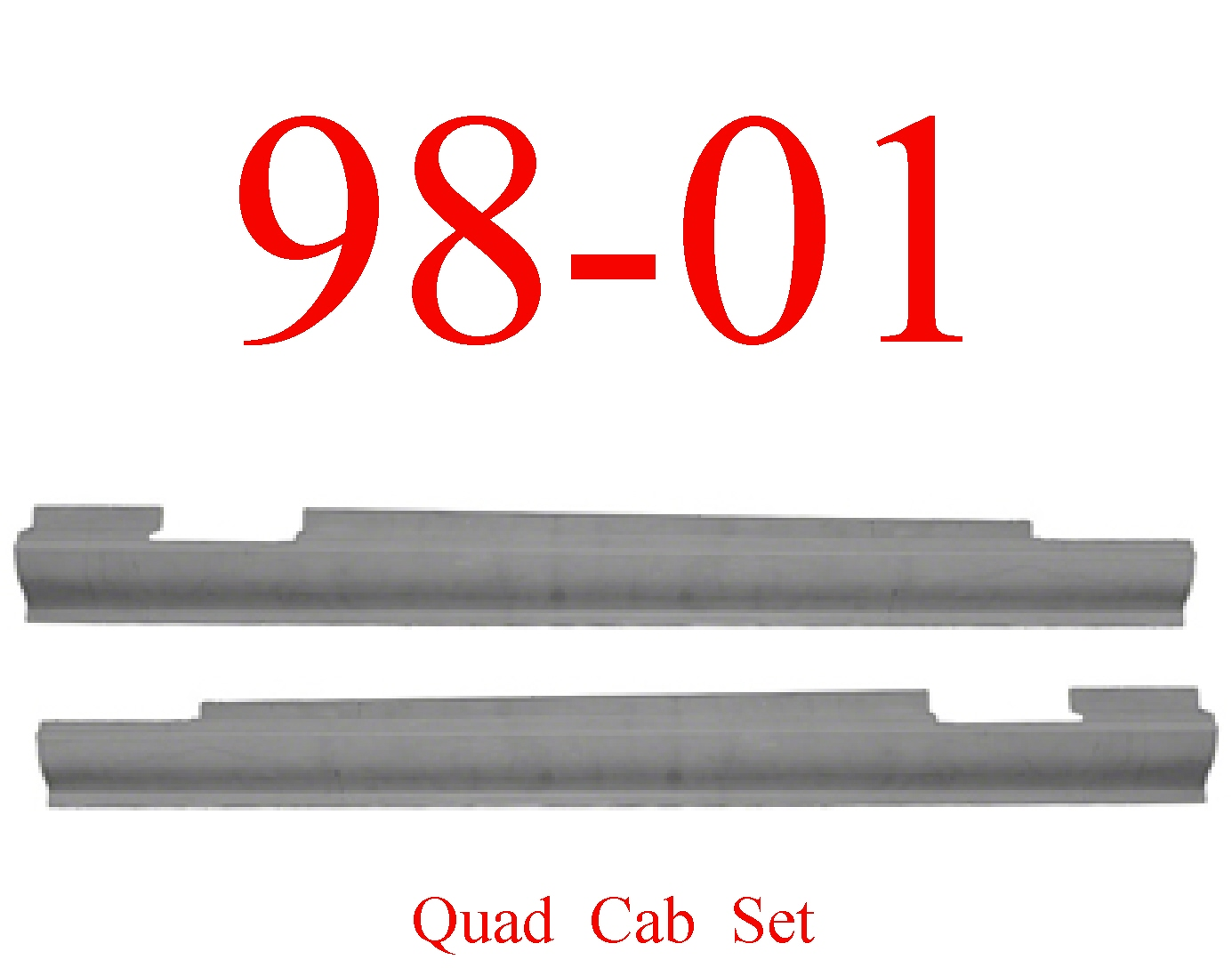 98-01 Dodge Quad Cab Slip-On Rocker Set