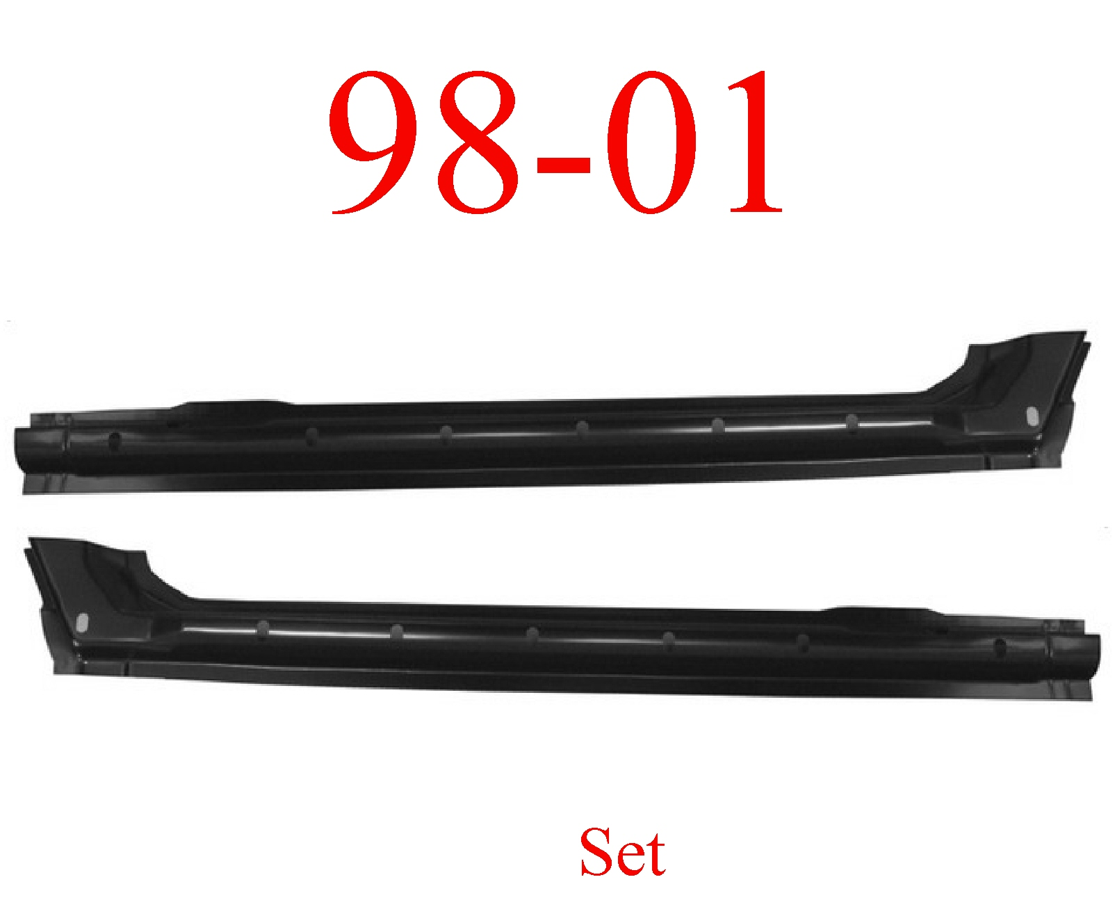 98-01 Dodge Quad Cab Extended Rocker Set