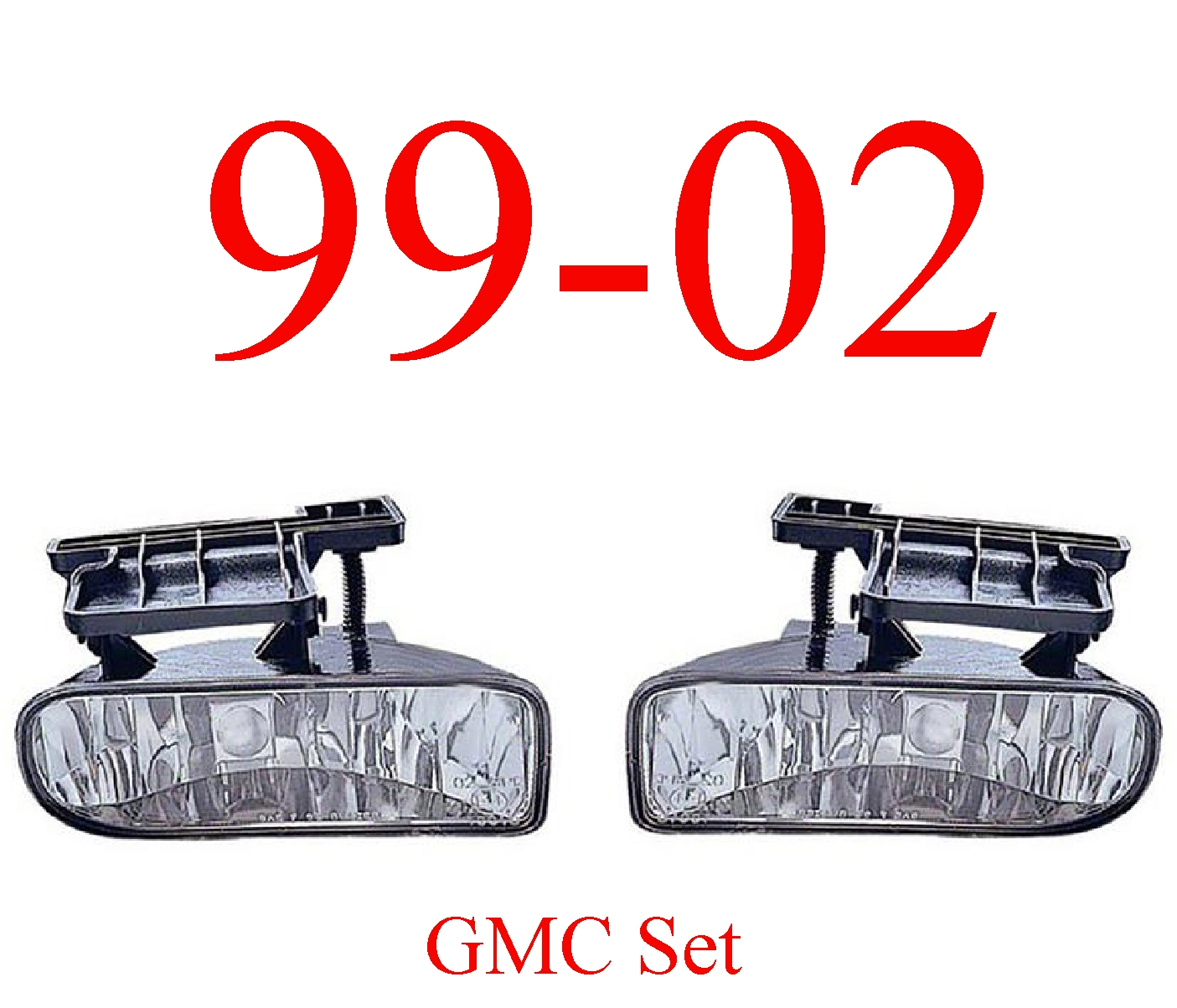 99-02 GMC Truck Fog Light Set Assembly