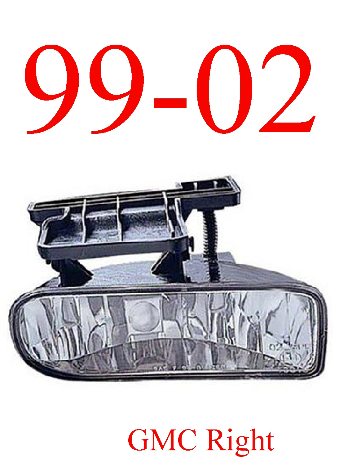 99-02 GMC Truck Right Fog Light Assembly