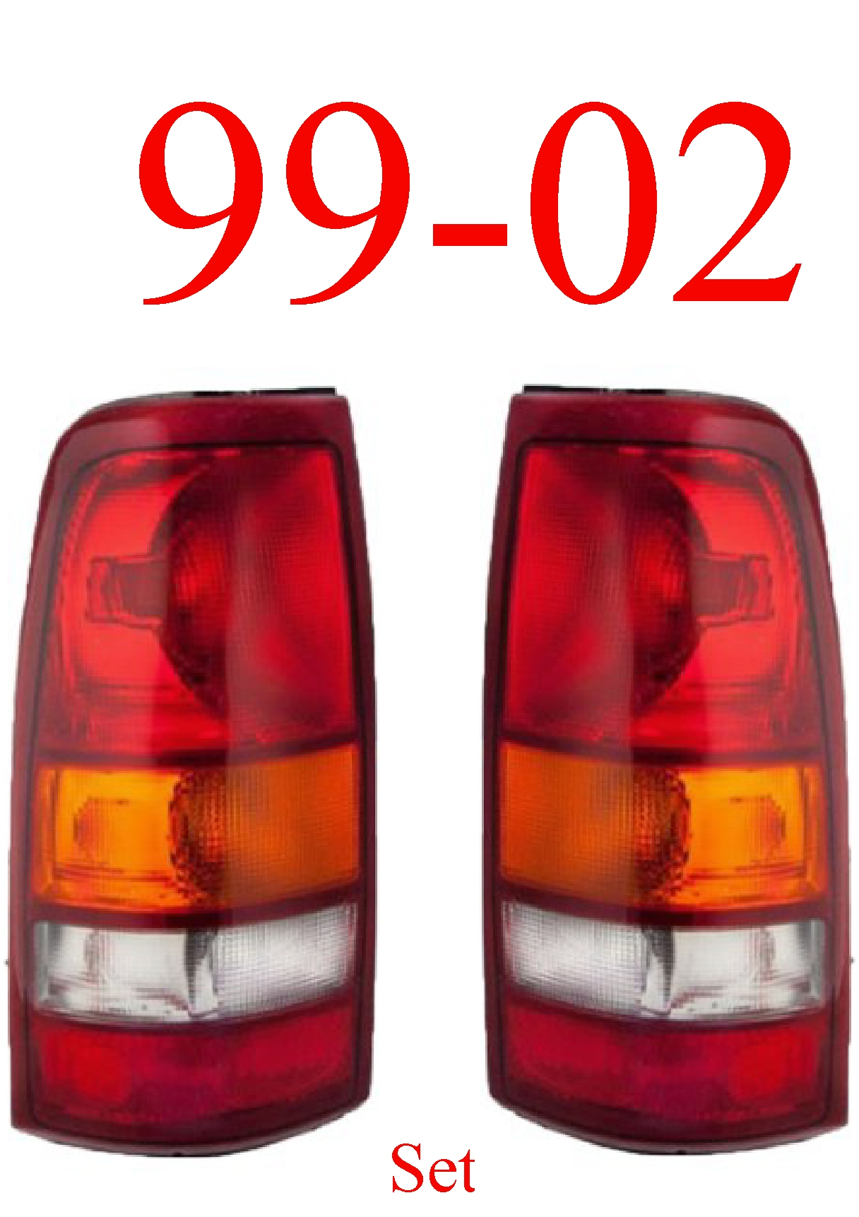 99-02 Silverado Tail Light Set