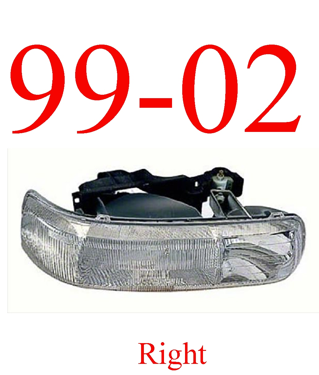 99-02 Chevy Right Head Light Assembly