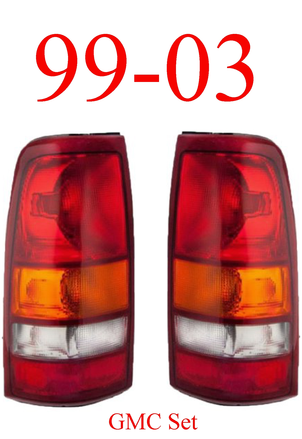 99-03 GMC Truck Tail Light Set