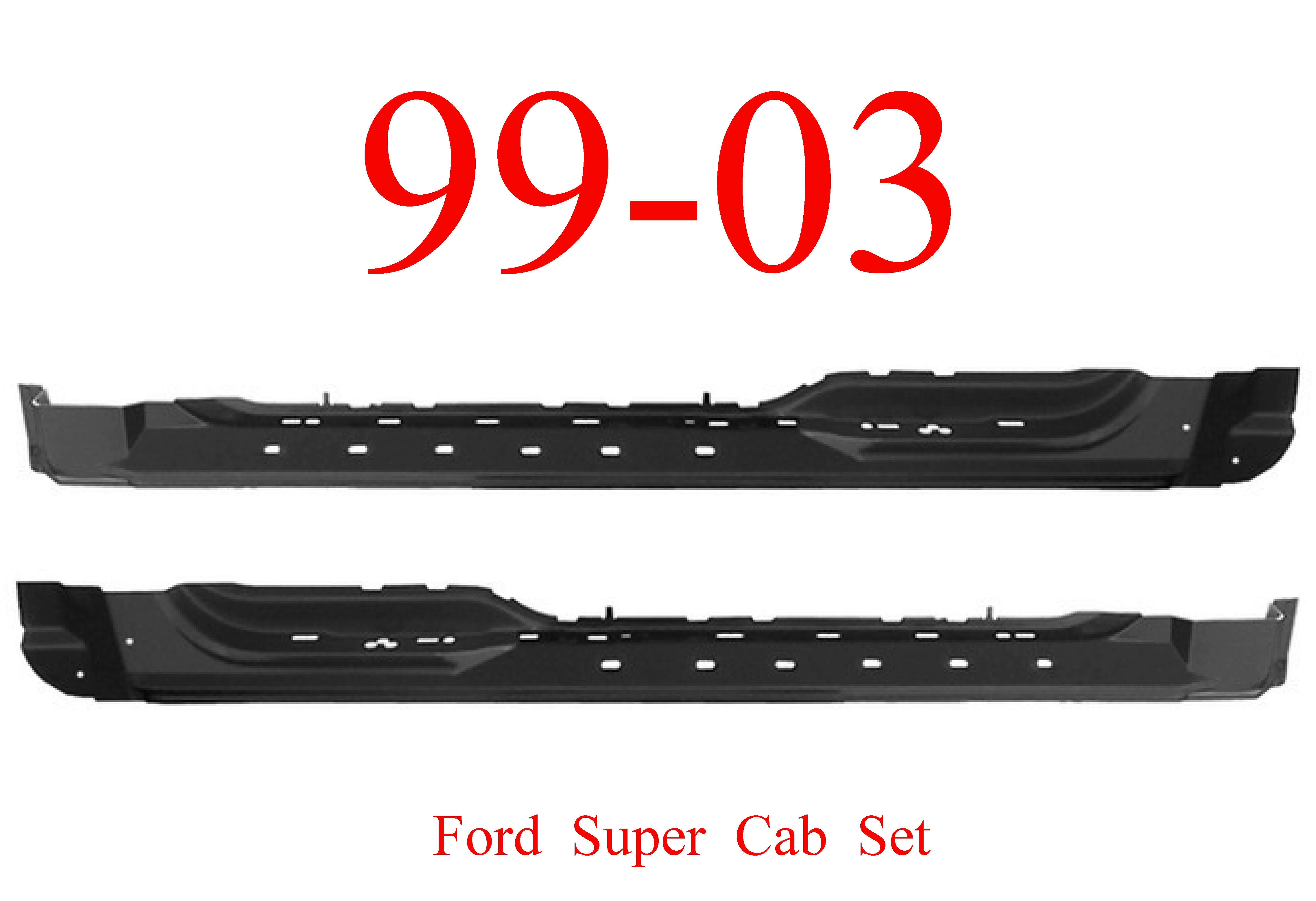 99-03 Ford Super Cab Extended Rocker Panel SET