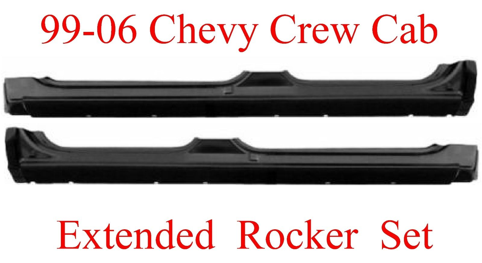 99-06 Chevy GMC Crew Cab Extended Rocker Set