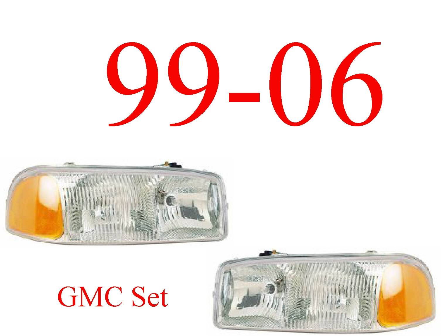 99-06 GMC Truck Head Light Set