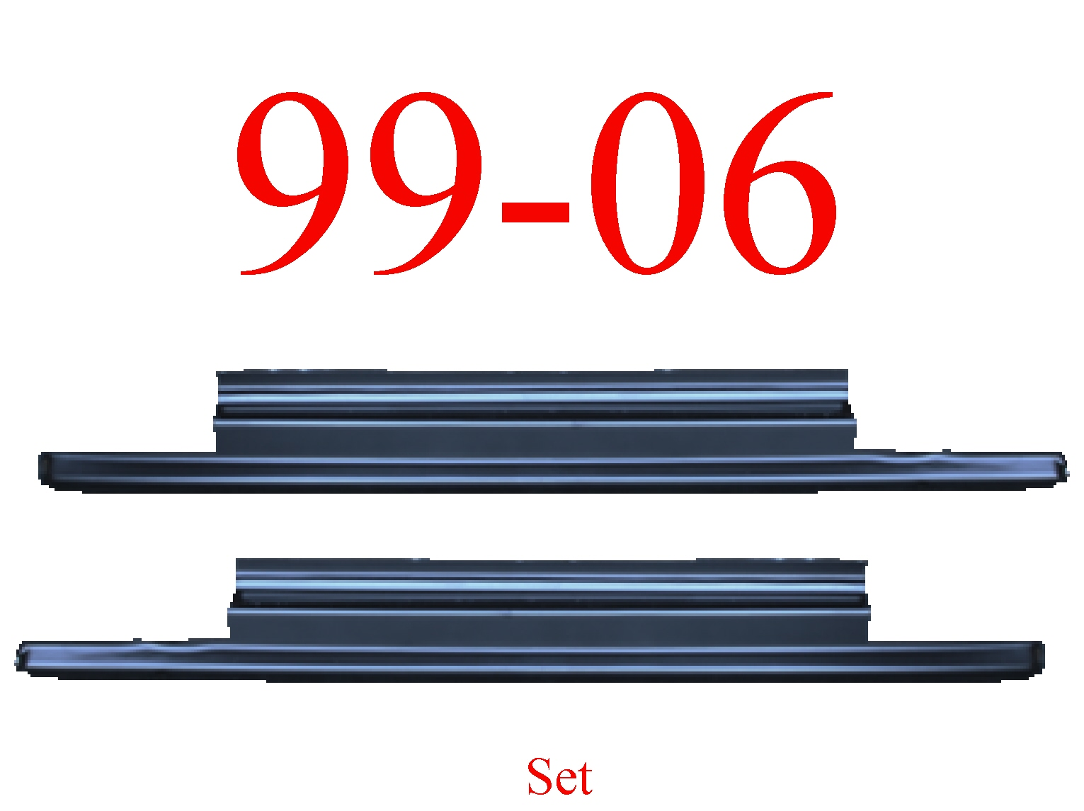 99 06 1.0MM Slip-On Rocker Panel SET, 2Dr Regular Cab
