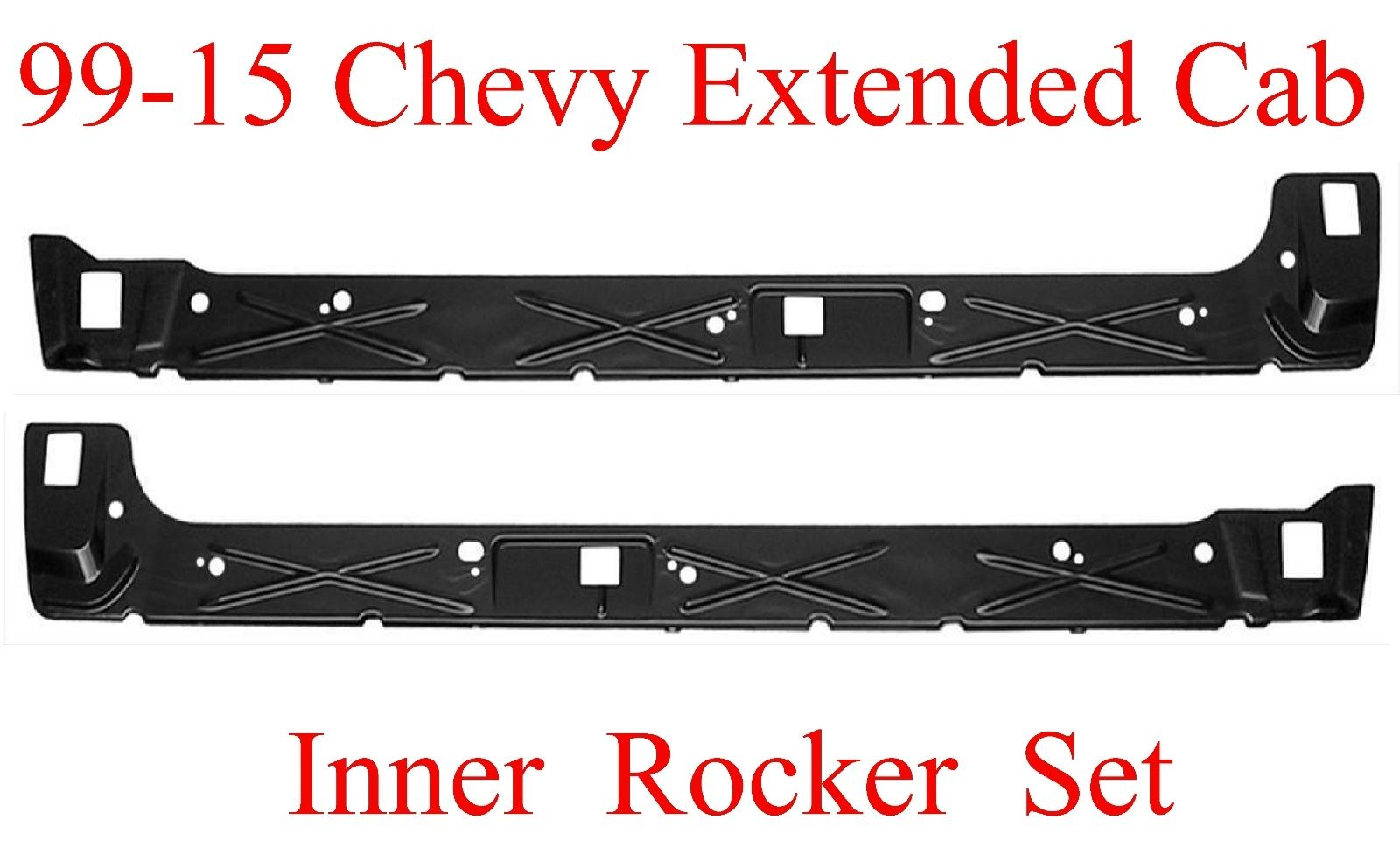 99-06 Chevy GMC Inner Rocker Panel Set Extended Cab 4 Door