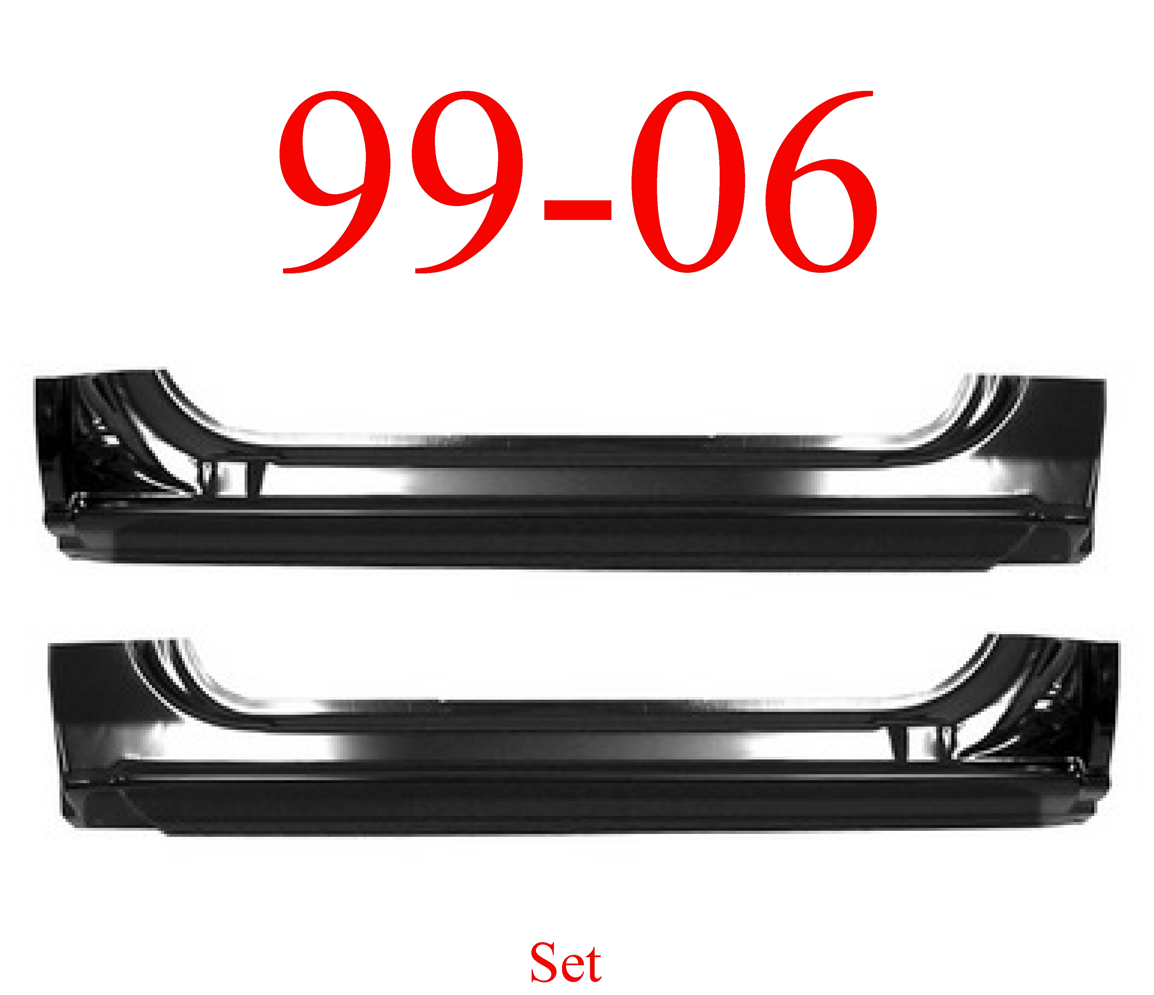 99-06 Chevy GMC Extended Rocker Panel SET, 2Dr Regular Cab