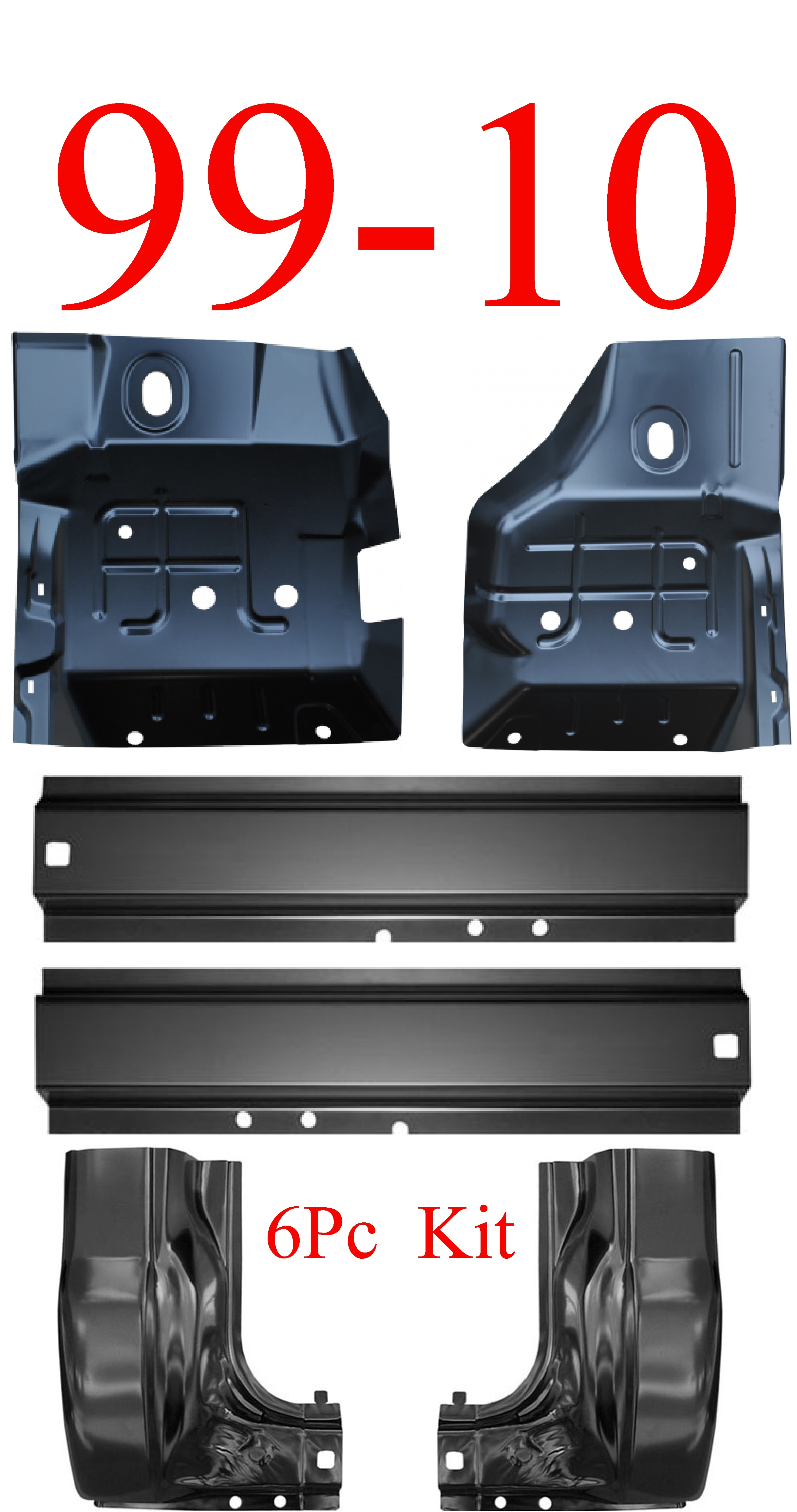 99-10 6Pc Ford Super Duty Rocker Panel, Inner & Cab Kit