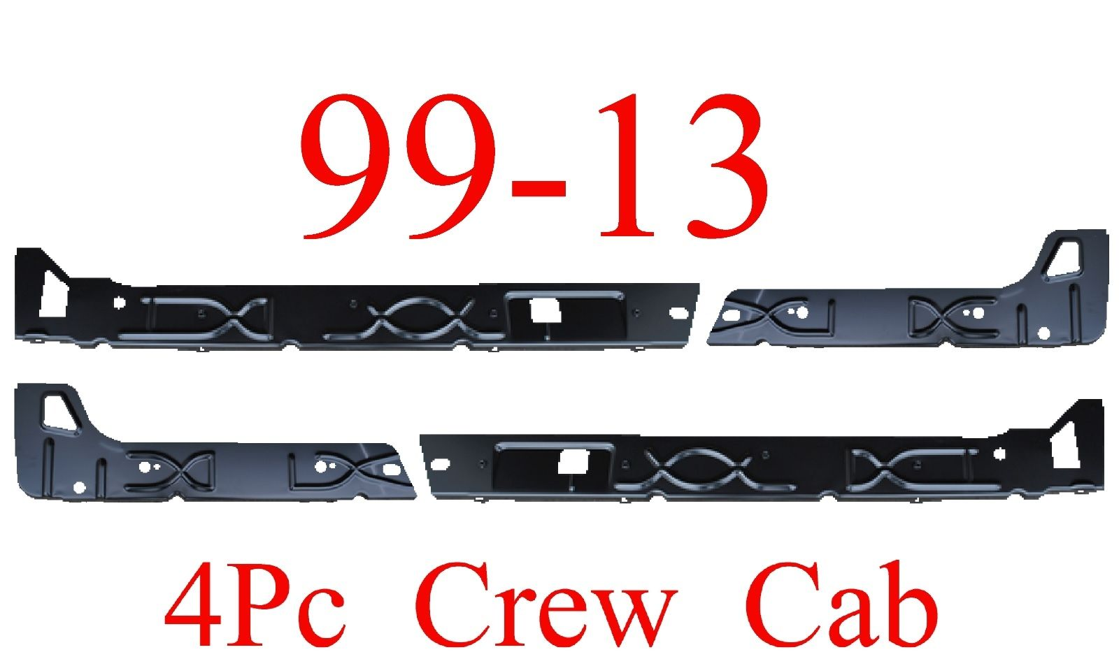 99-15 Crew Cab Inner Rocker Panel 4Pc L&R