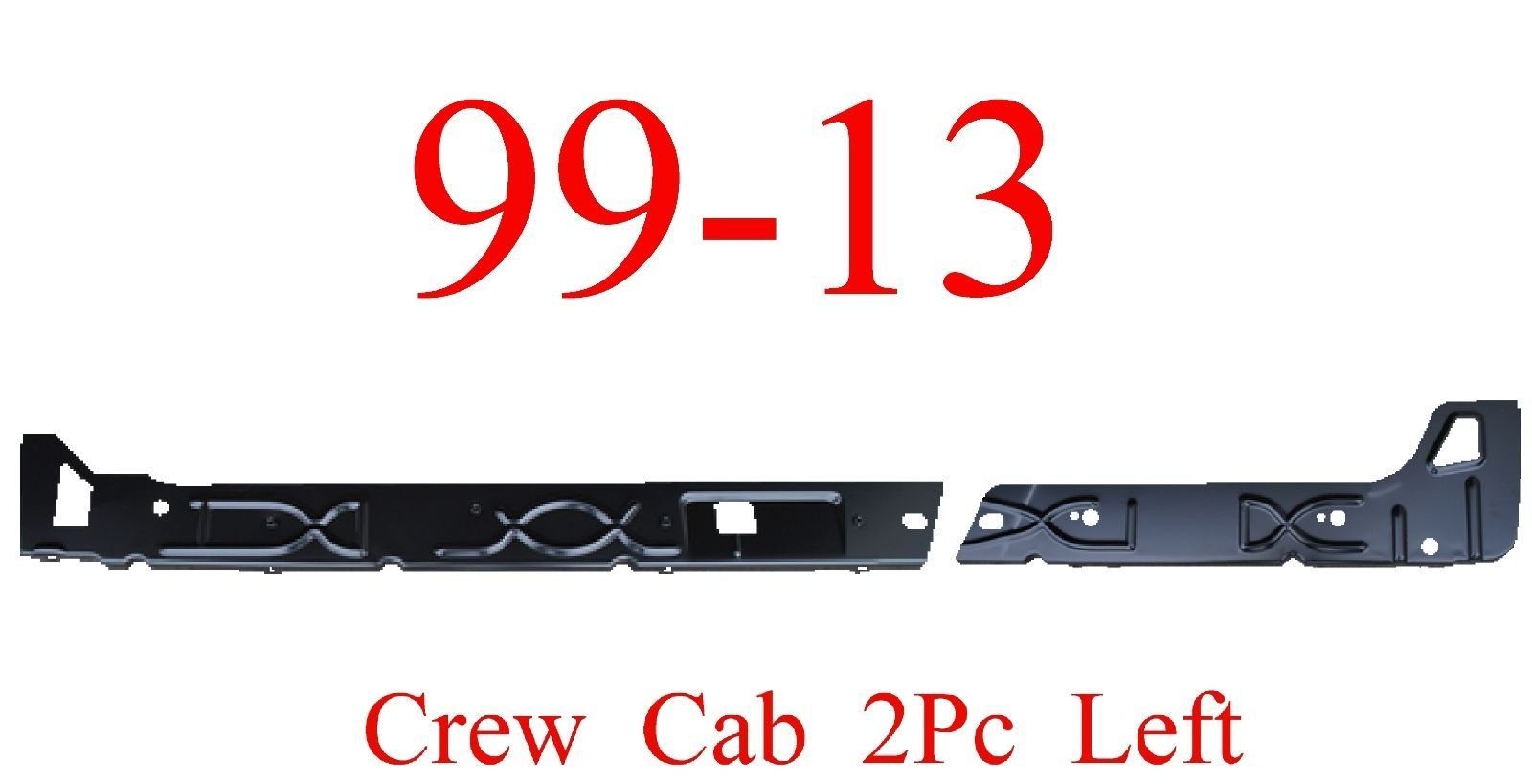 99-15 Left Crew Cab Inner Rocker Panel 2Pc