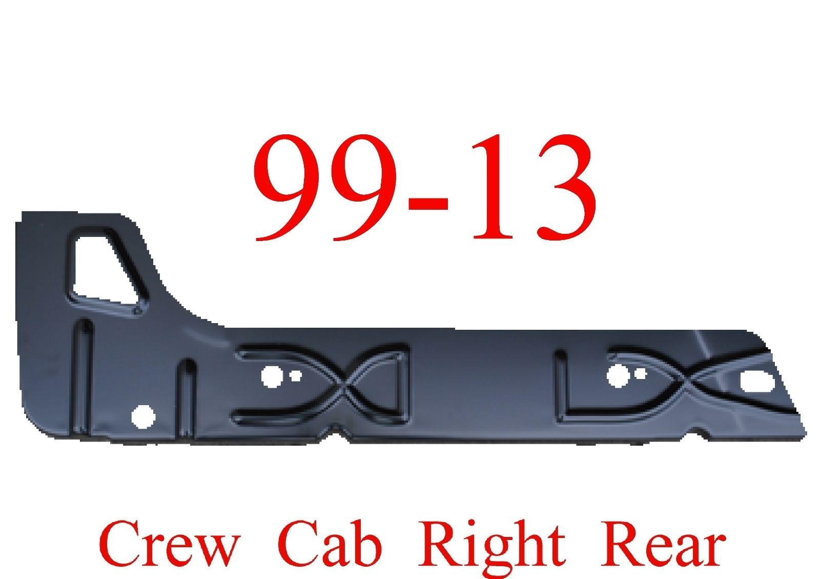 99-15 Right Rear Crew Cab Inner Rocker Panel