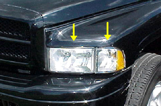 94-01 Dodge Sport 2Pc Left Head Light Assembly