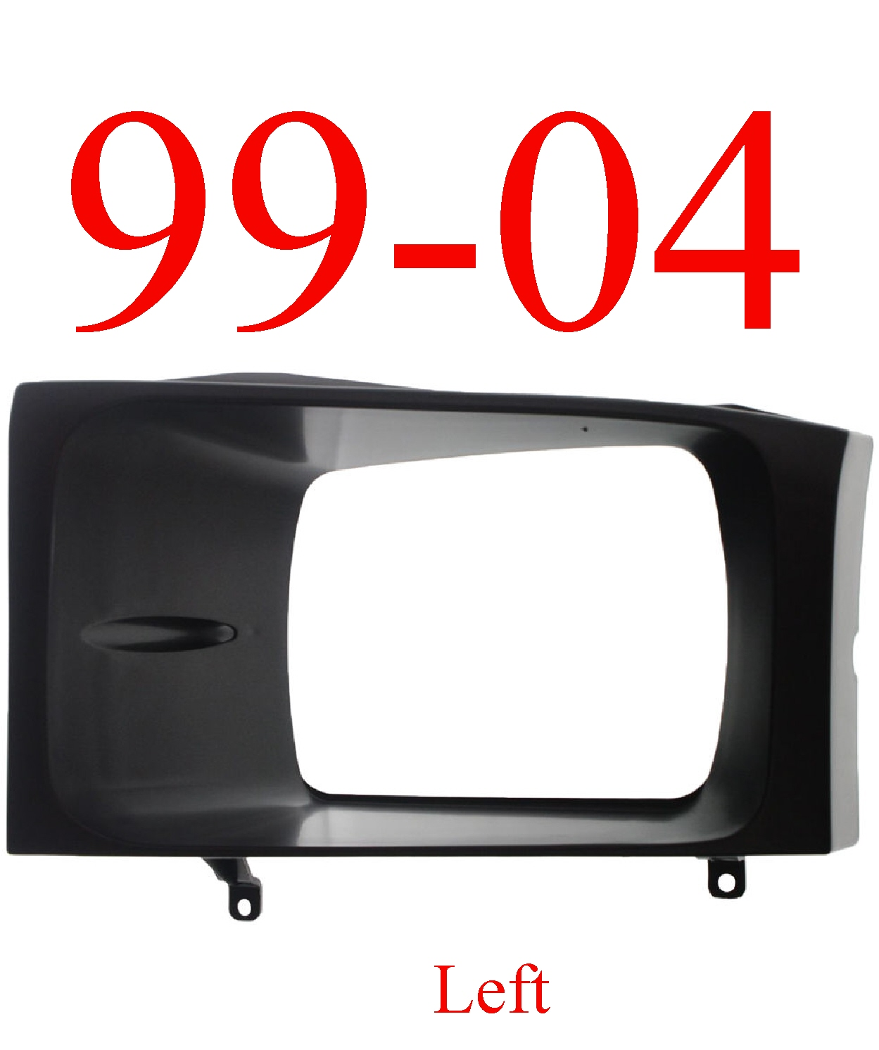 99-04 Super Duty Left Black Head Light Door