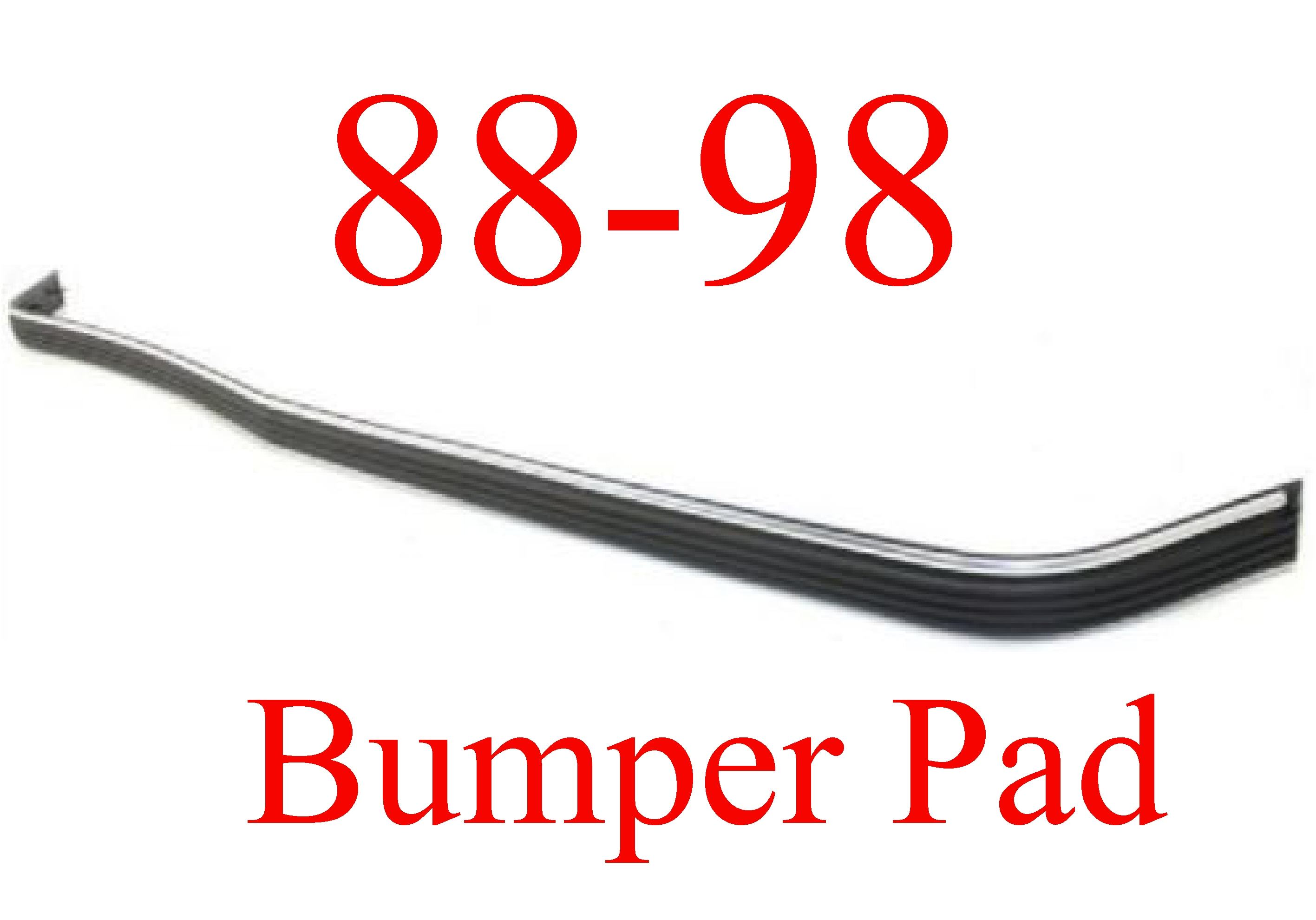 88-98 Chevy GMC Front Bumper Pad Strip With Chrome