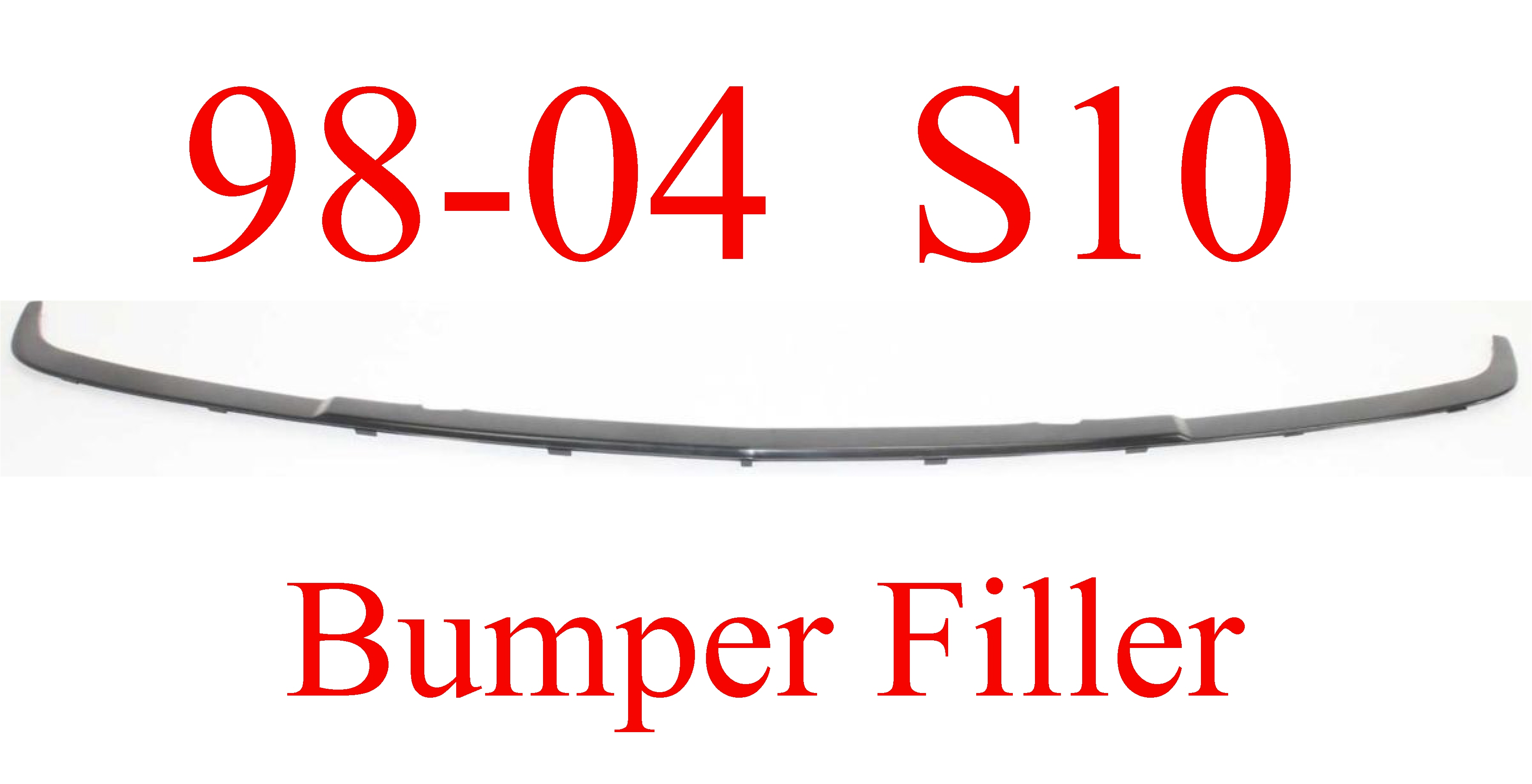 98 04 S10 Center Bumper Filler