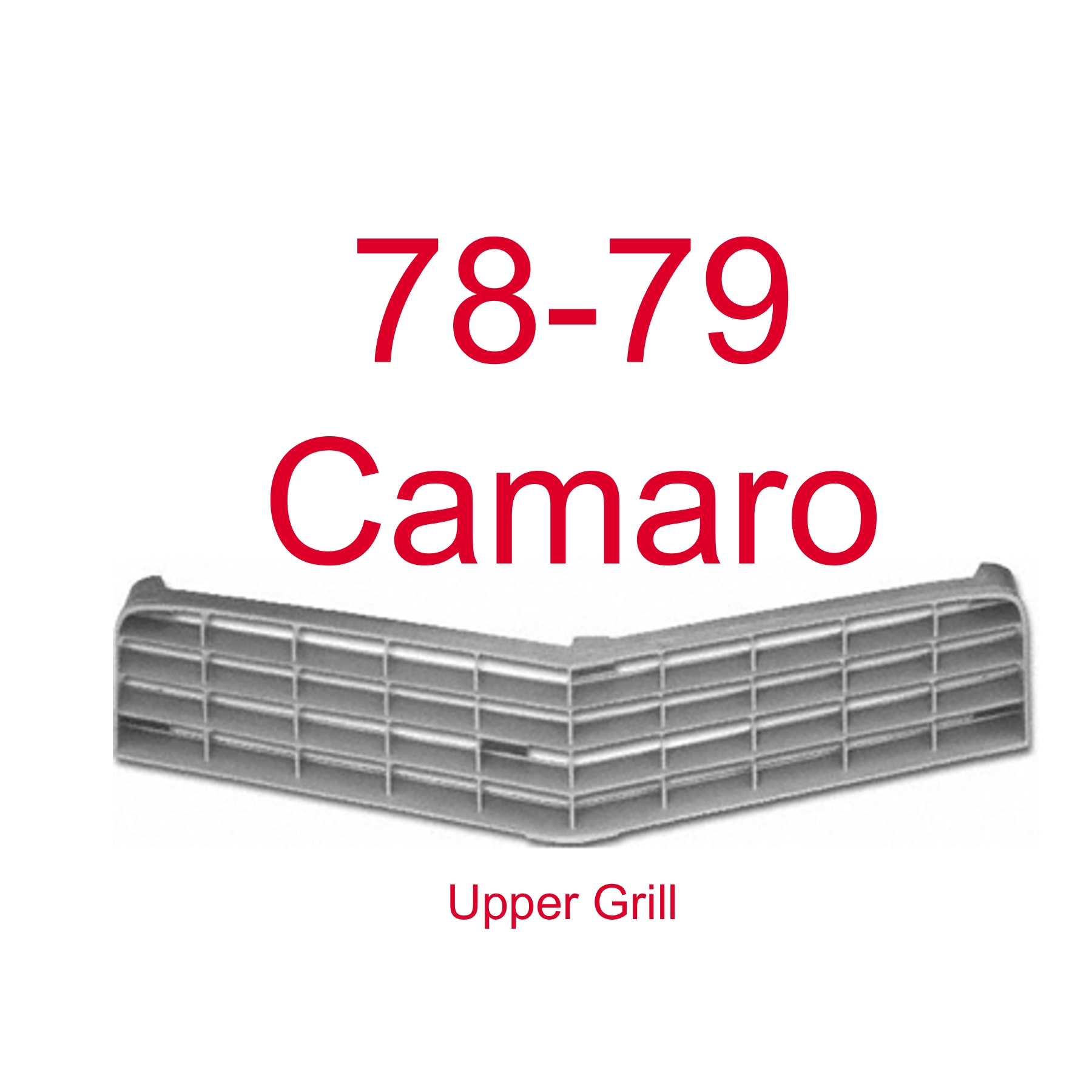 78-79 Chevy Camaro Upper Grill, Argent In Color