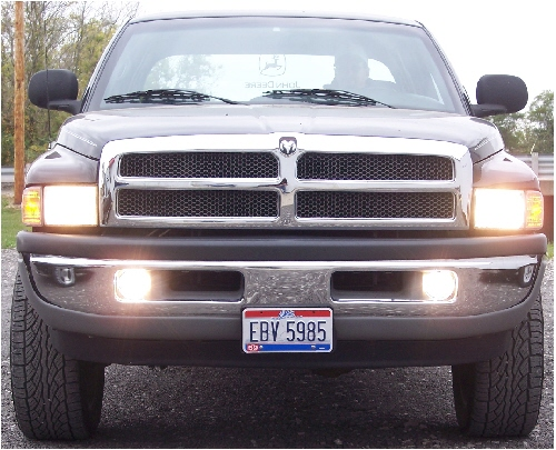 94 01 Dodge Ram High Beam Fog Light Conversion Kit