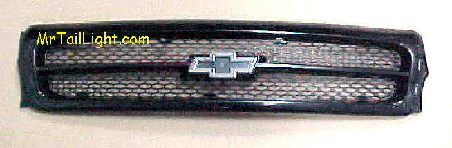 93-96 Impala SS Black Grill & Chrome Emblem