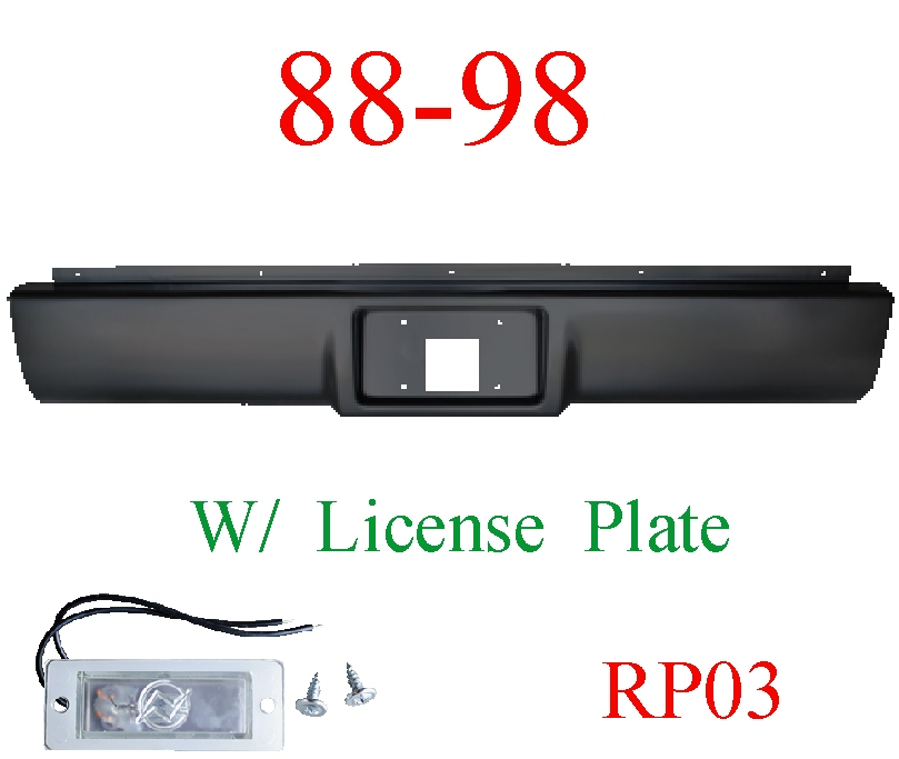 RP03 88-98 Chevy Rear Roll Pan With License Plate Light