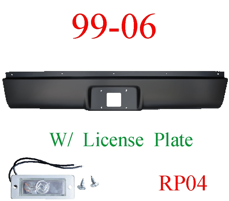 RP04 99-06 Chevy Rear Roll Pan With License Plate Light