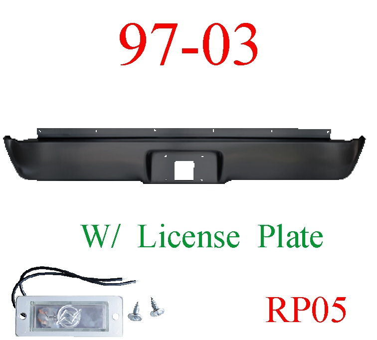 RP05 97 03 F150 Rear Roll Pan With License Plate Light