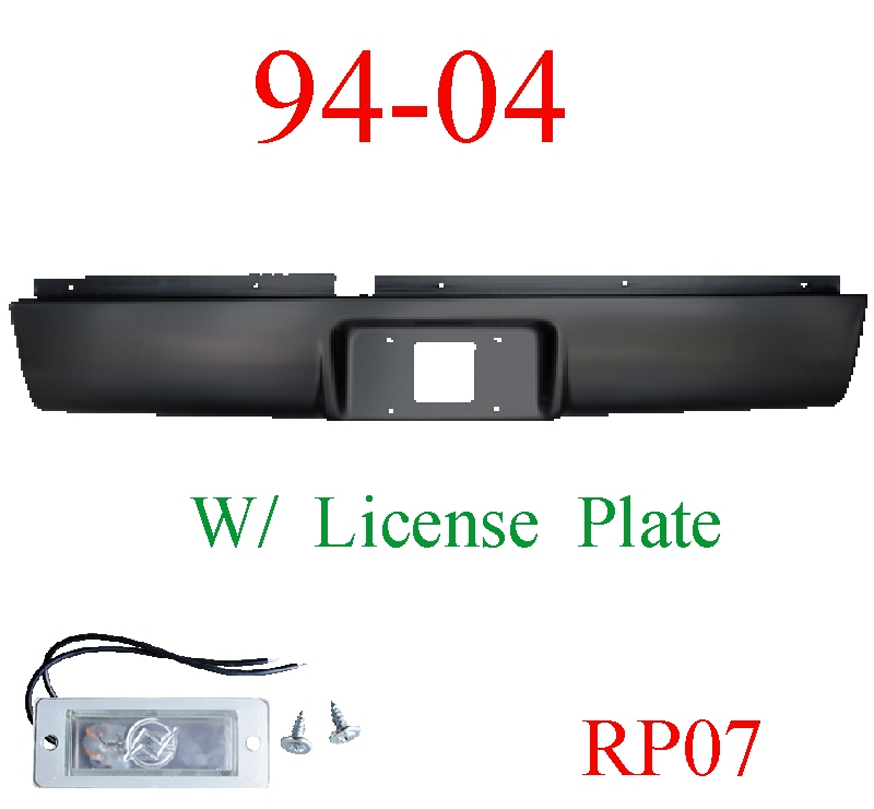 RP07 94-04 Chevy S10 Roll Pan Rear, With License Plate Light