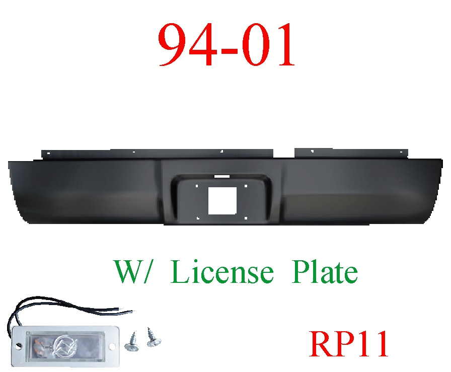 RP11 94-01 Dodge Ram Roll Pan Rear, With License Plate Light