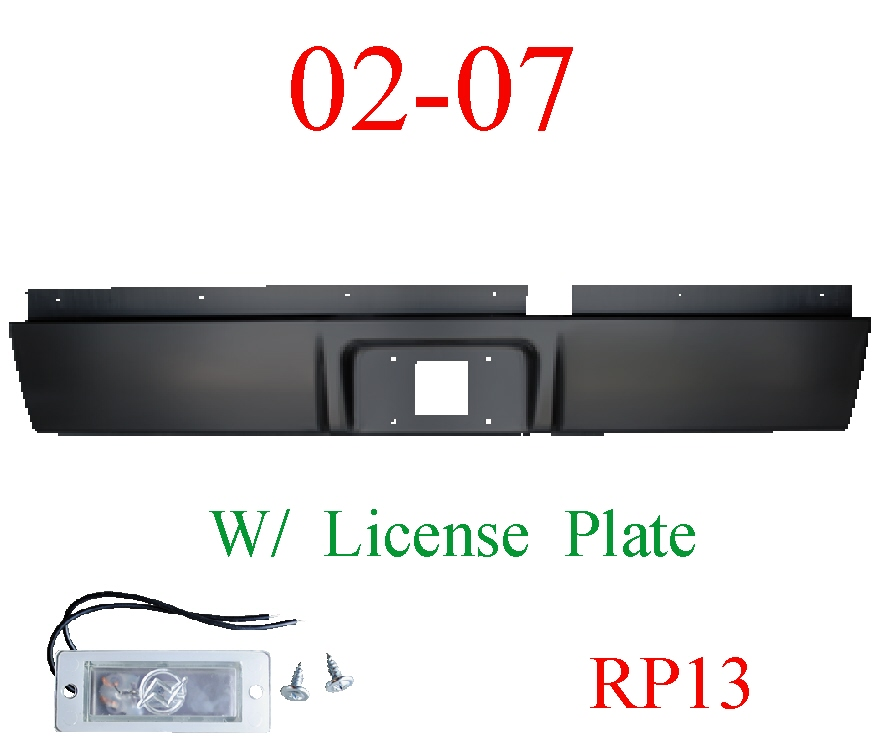 RP13 02-08 Dodge Ram Roll Pan Rear, With License Plate Light