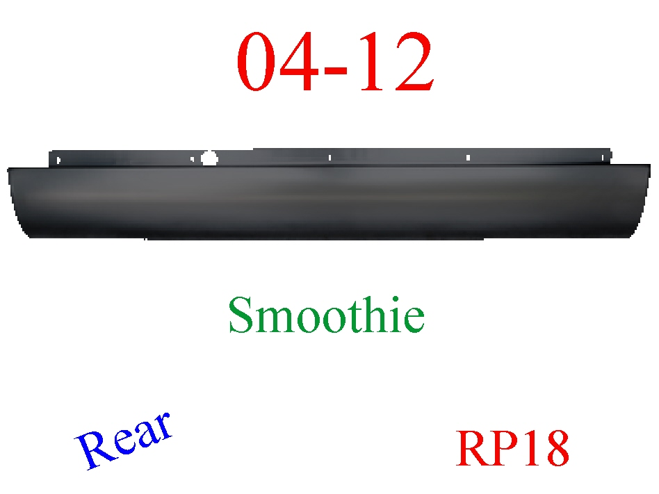 RP18 04-12 Chevy Colorado Roll Pan Rear Smoothie