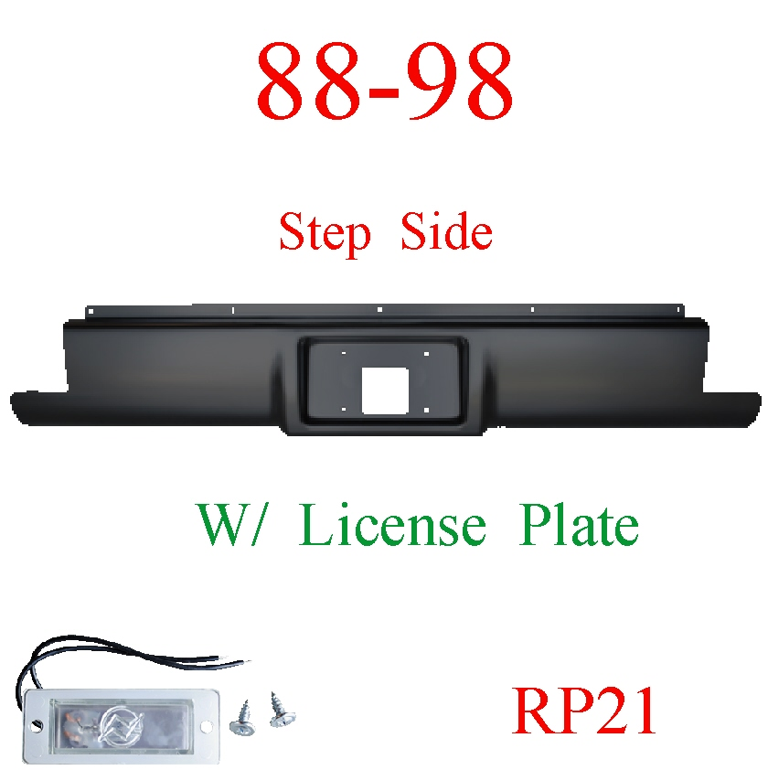RP21 88-98 Chevy Step Side Rear Roll Pan