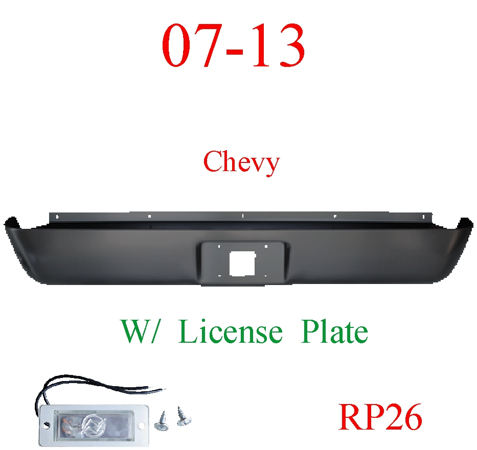 RP26 07-13 Chevy Silverado Roll Pan Rear