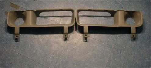 94-01 Dodge Ram Bumper Inserts Sight Shields