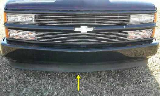 88-98 Chevy & GMC Lower Bumper Valance With-Out Holes