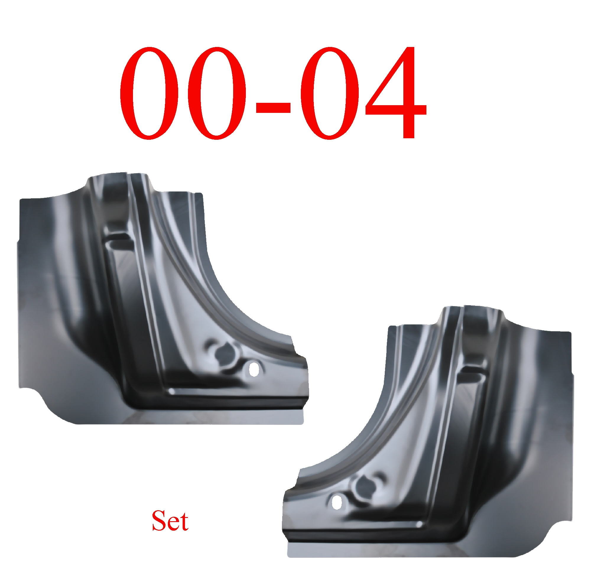 00-04 Dodge Dakota Quad Cab Corner Set