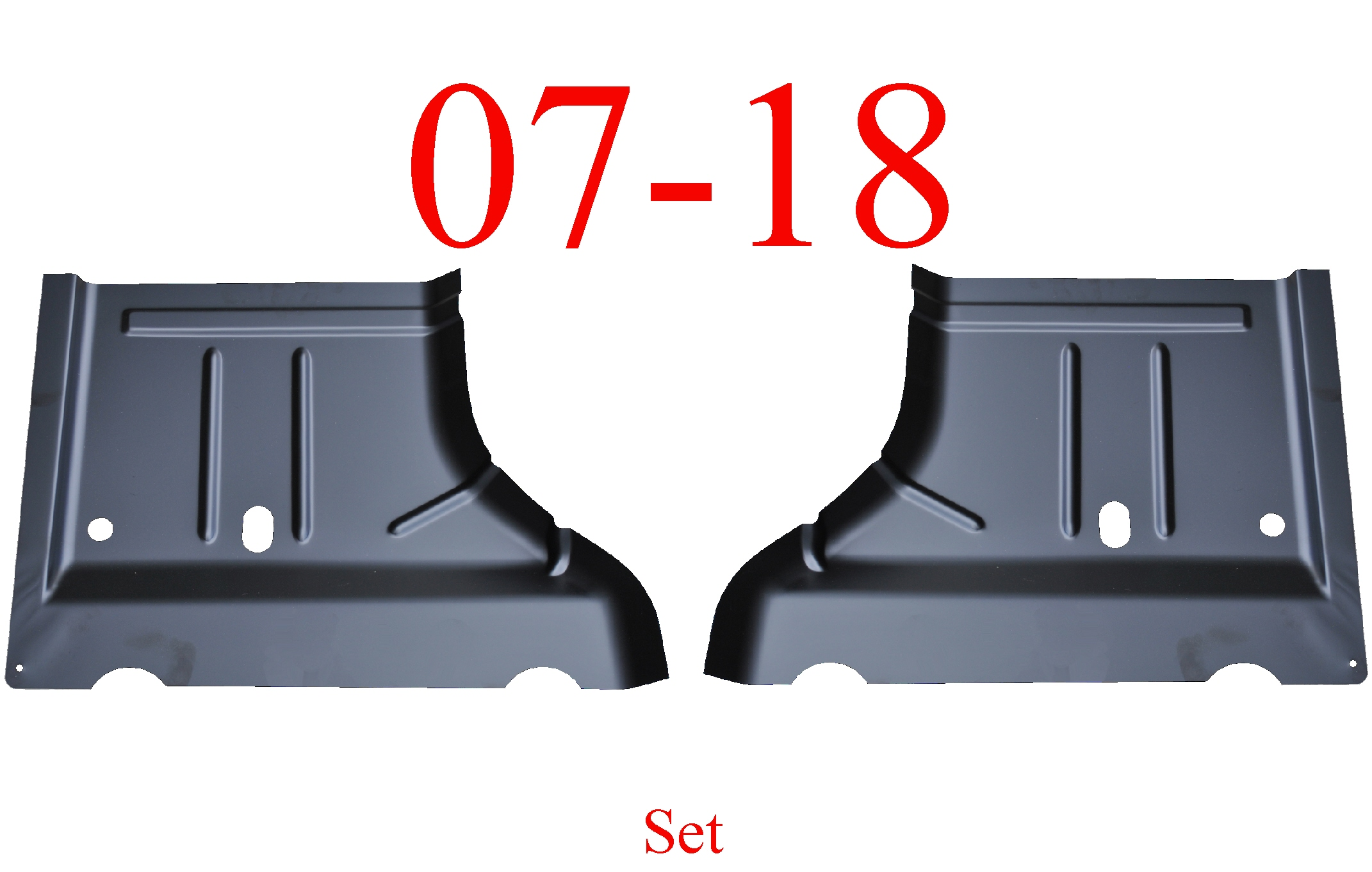 07 & Up Jeep Wrangler JK Left & Right Rear Floor Pan Set