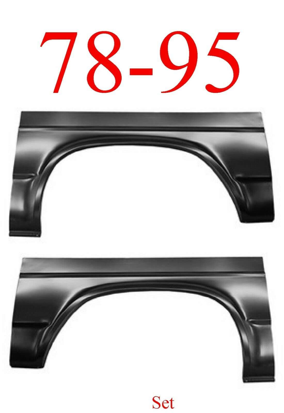 78-95 Chevy Van Rear Arch Set