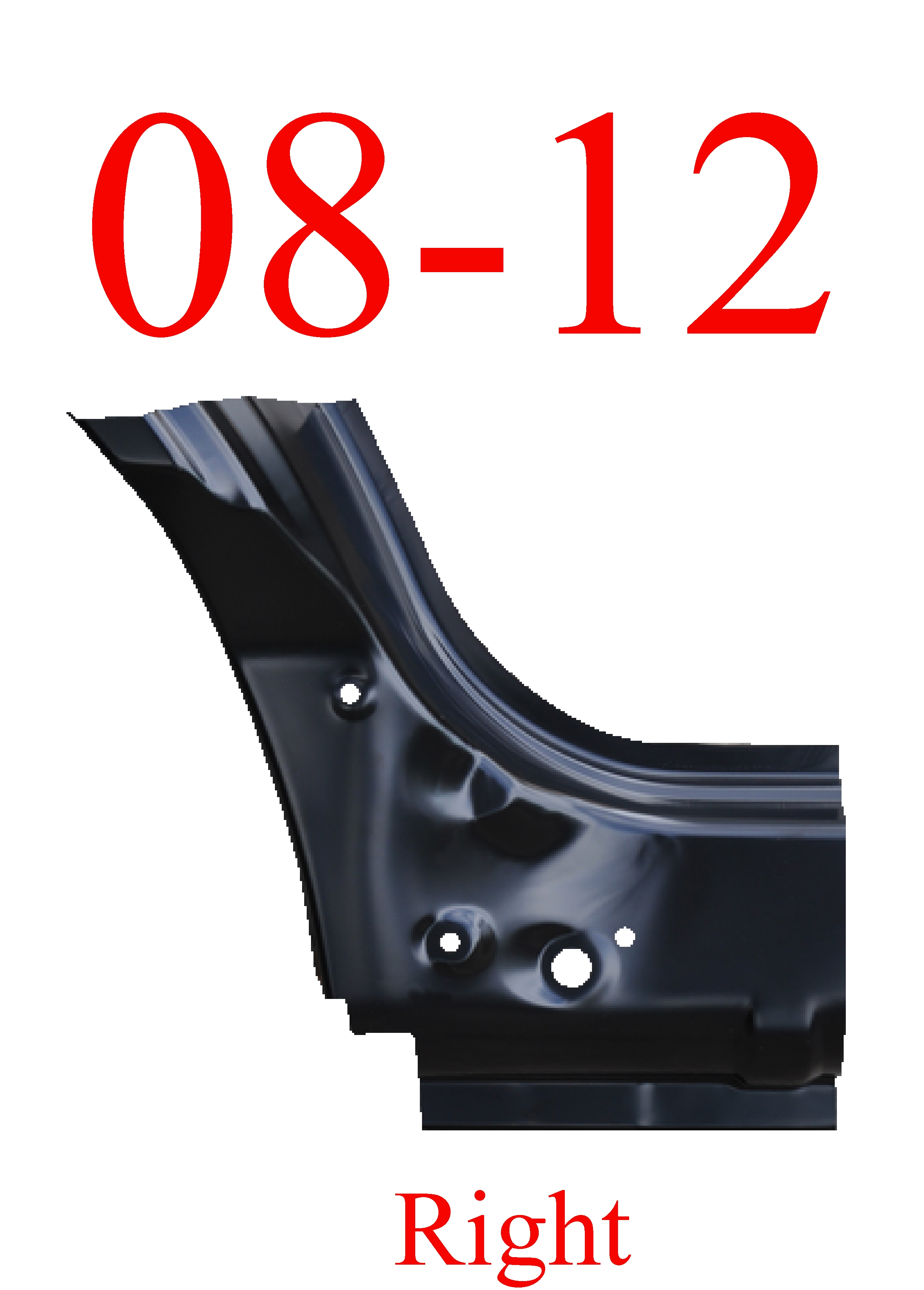 08-11 Mazda Tribute Right Front Dog Leg