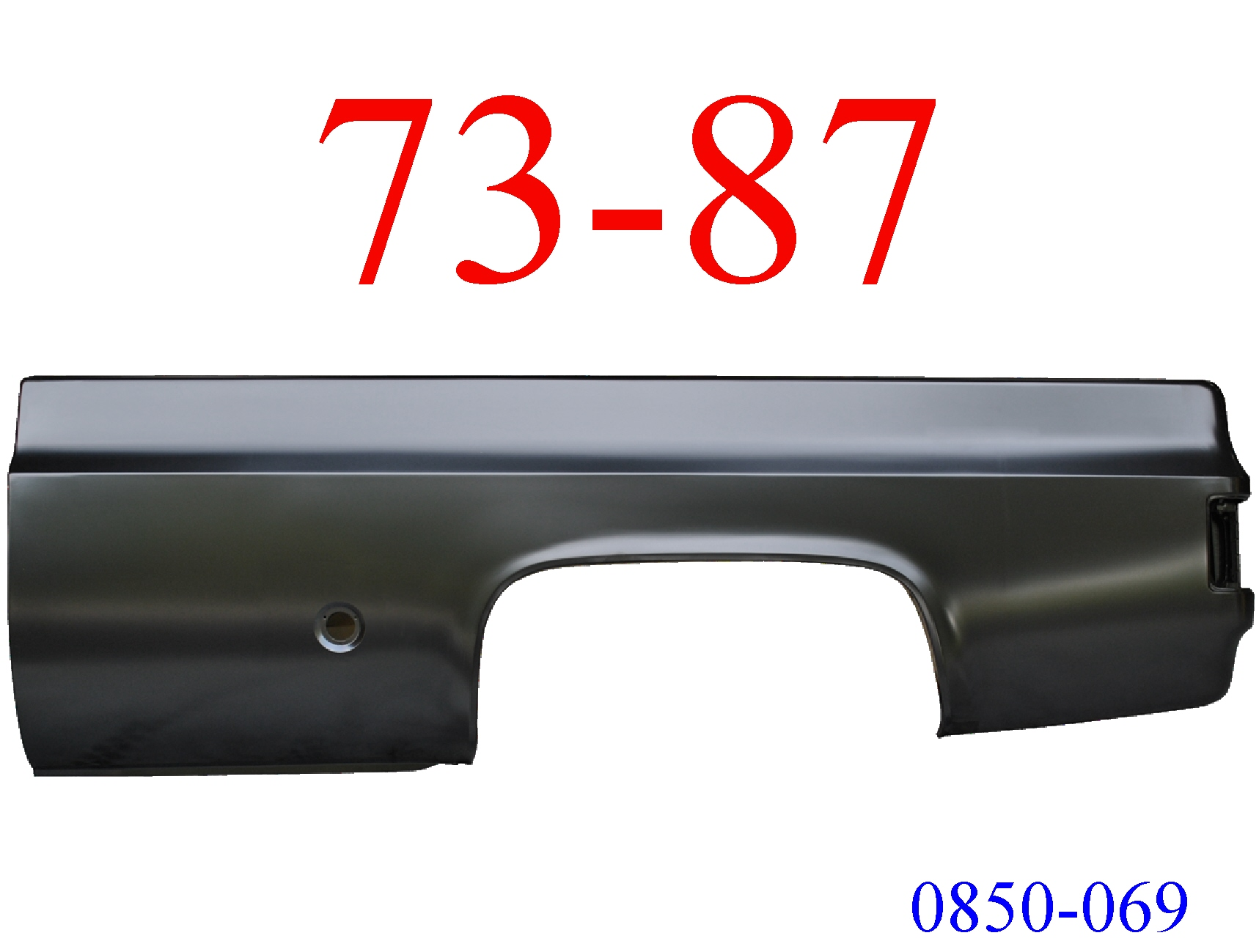 73-87 Chevy Truck 8' Left Bed Side Round Fuel Hole 0850-069