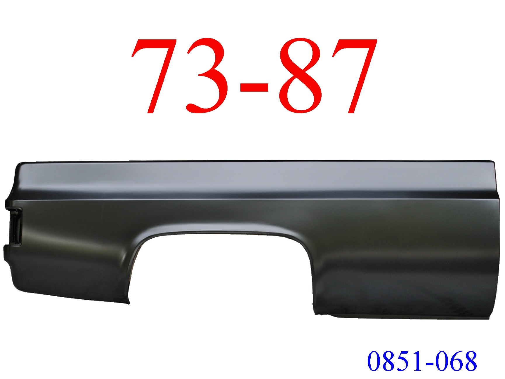 73-87 Chevy Truck 8' Right Bed Side No Fuel Hole 0851-068