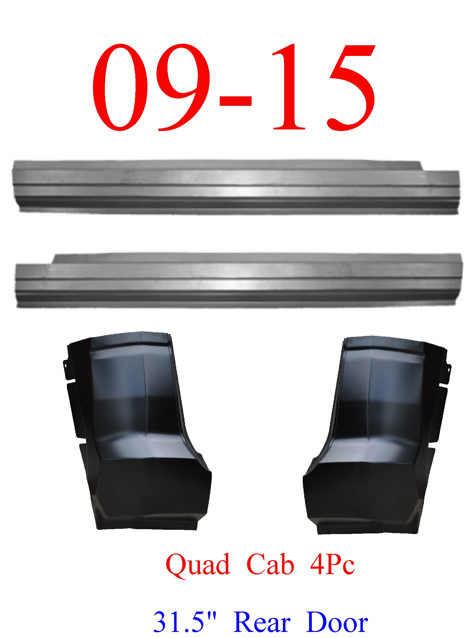 09-15 Ram 4Pc Outer Rocker & Cab Corner Kit, Quad Cab, Truck
