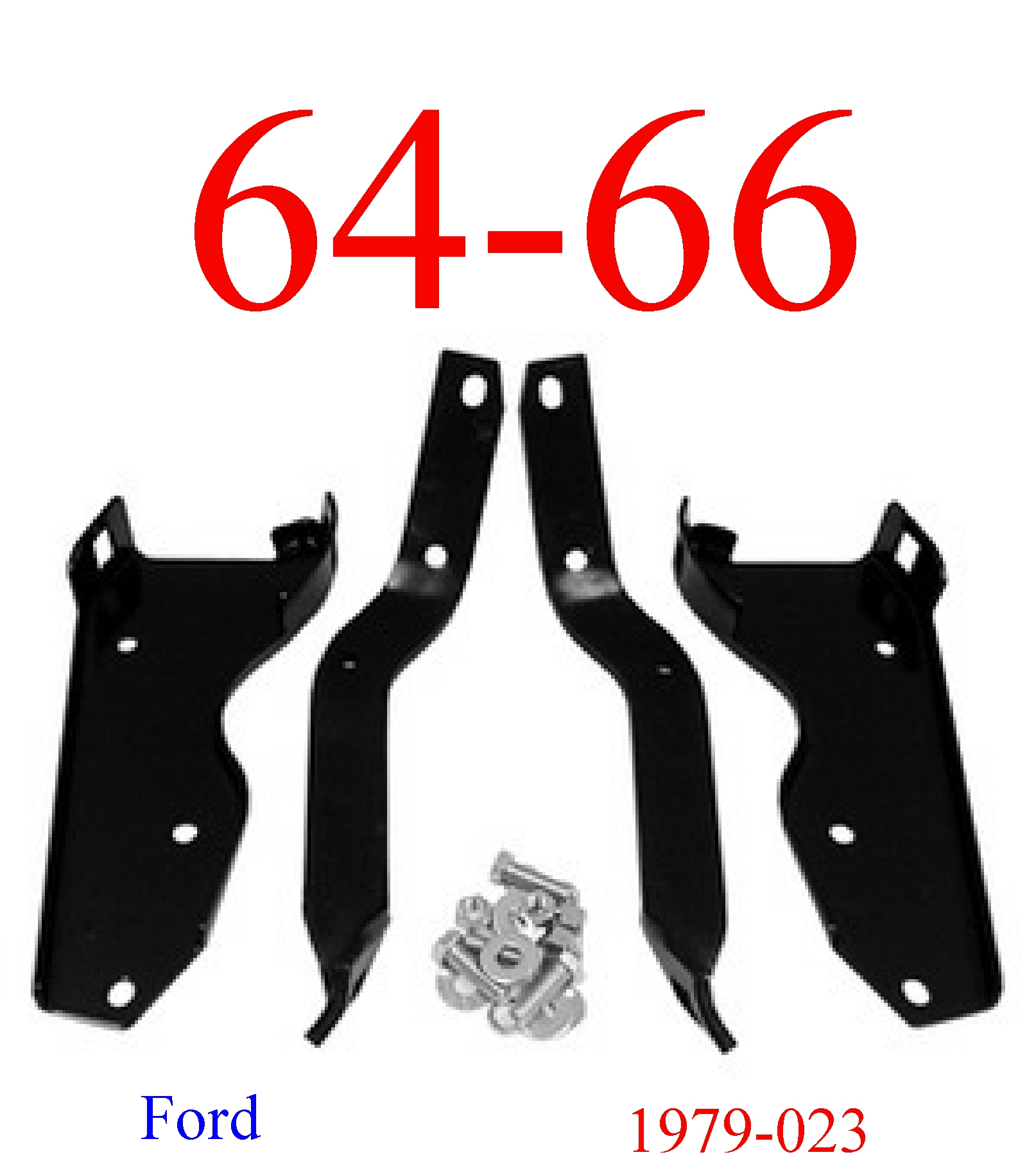 64-66 Ford Truck Rear Bumper Bracket & Bolt Kit
