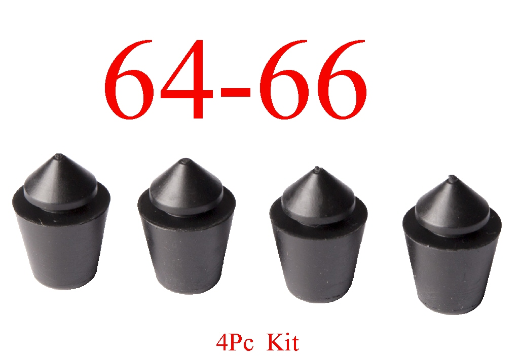 64-66 Chevy 4Pc Left Or Right Rubber Door Bumper Kit