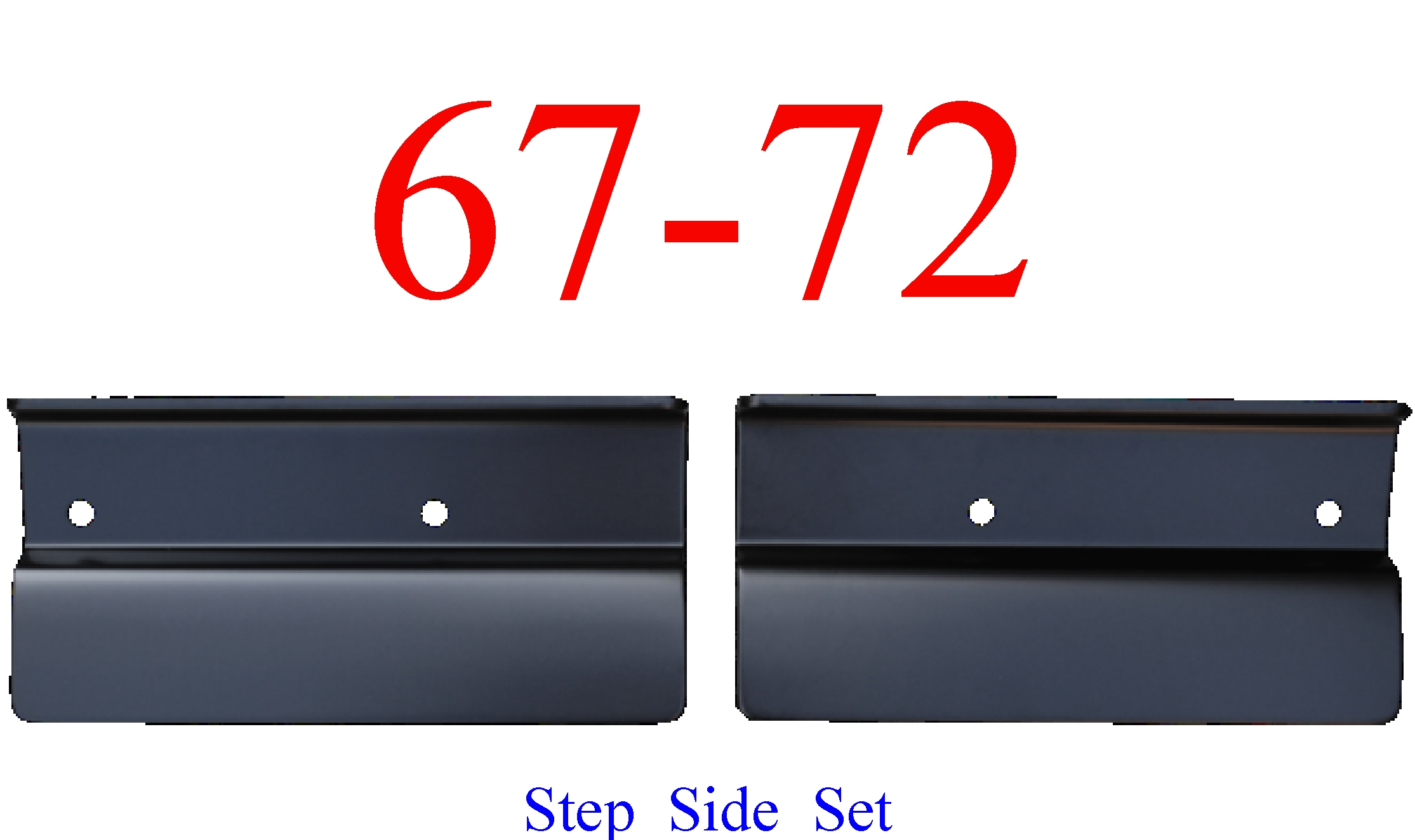 67-72 Chevy Rear Gravel Deflector Step Side Set