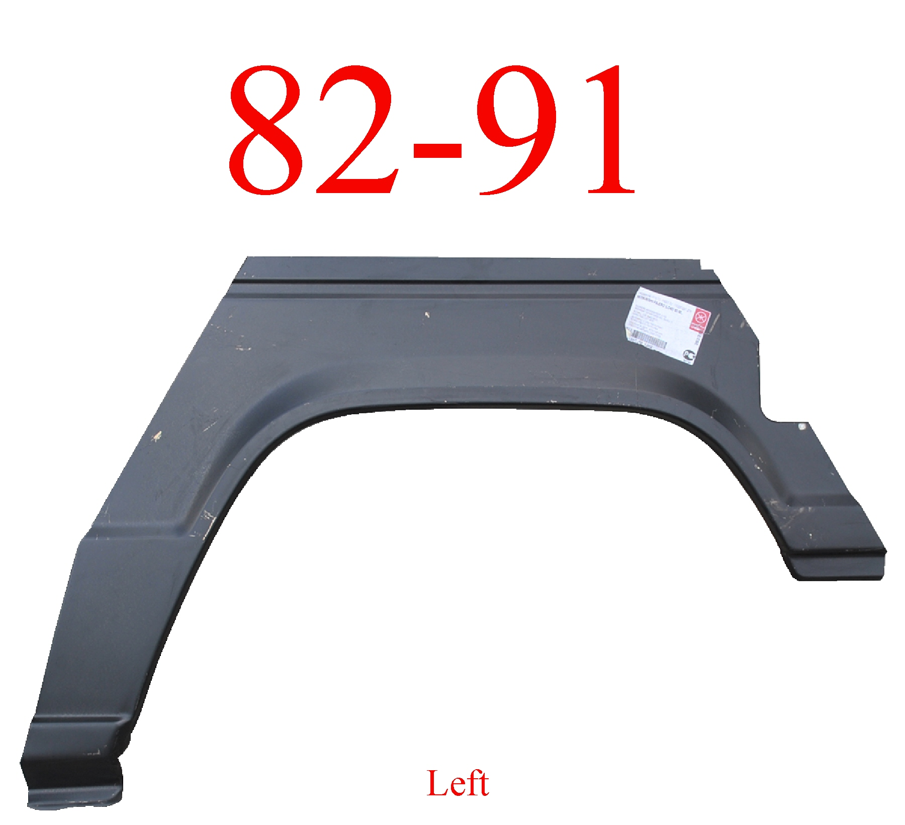 82-91 Mitsubishi Montero 2Dr Left Rear Upper Arch & Dog Leg