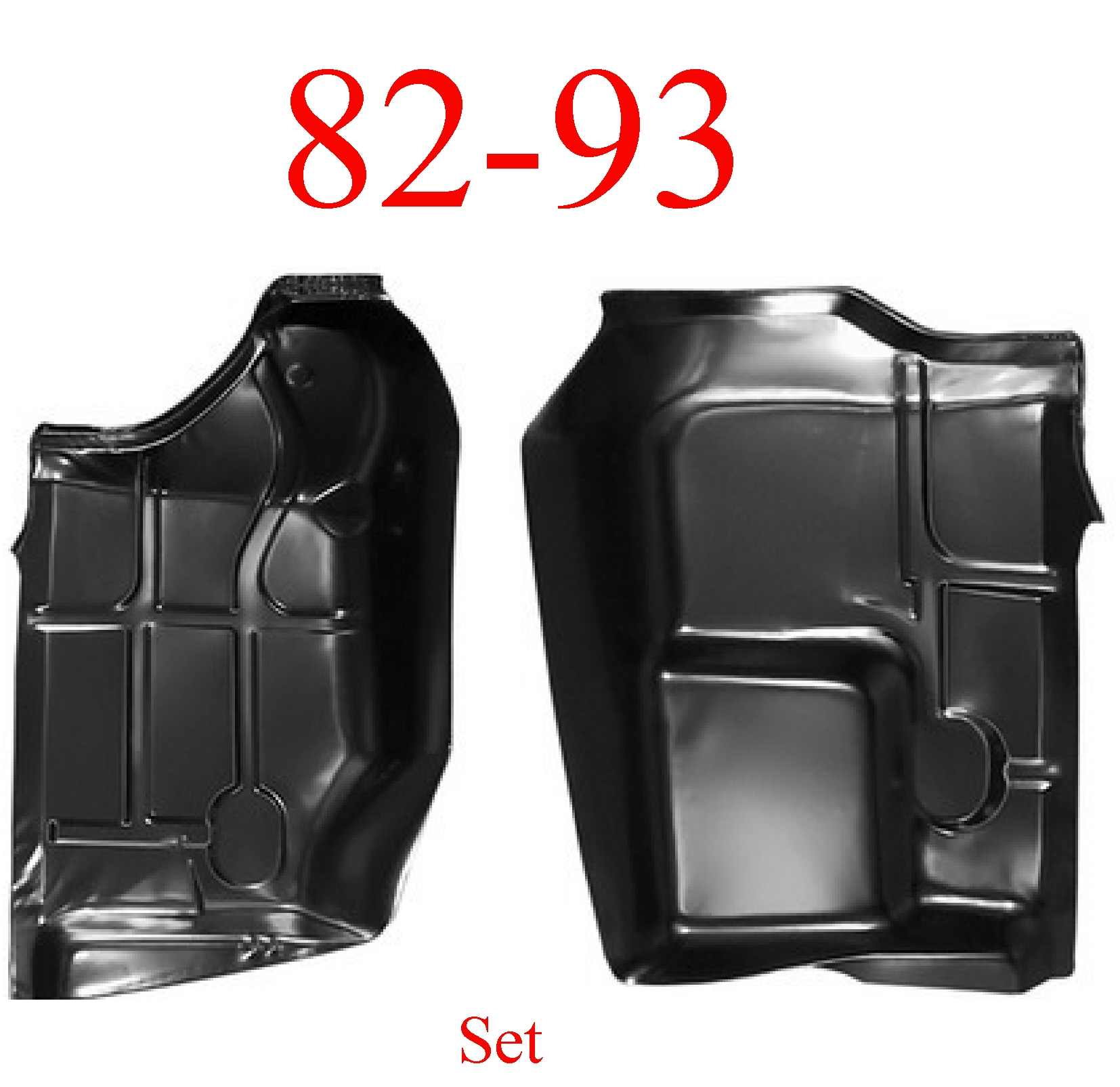 82-93 Chevy S10 Front Cab Floor Pan Set