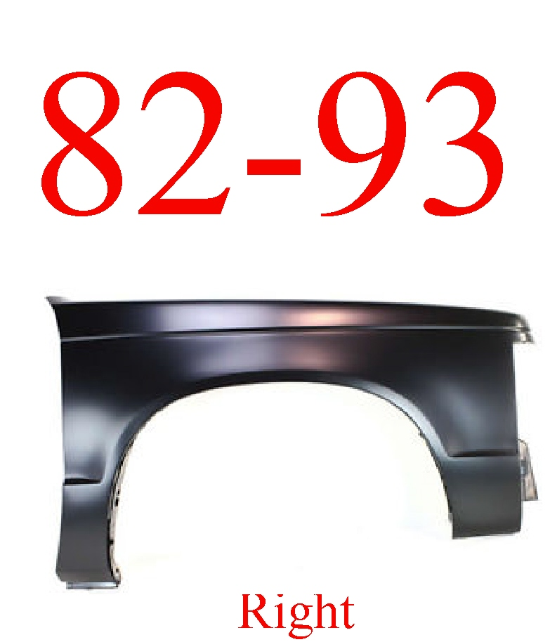 82-93 Chevy S10 Right Fender Panel