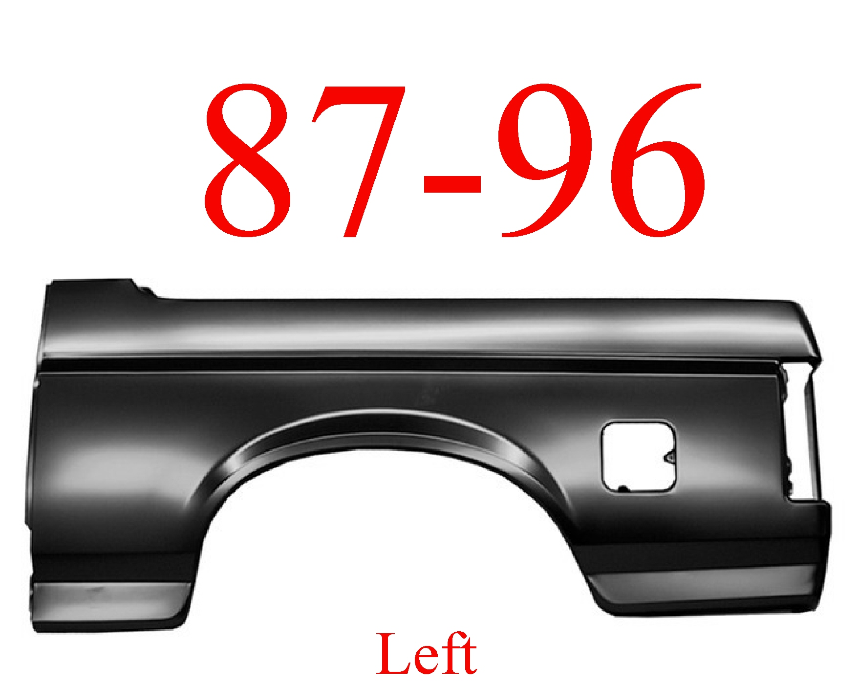 87-96 Ford Bronco Left Outer Quarter Panel